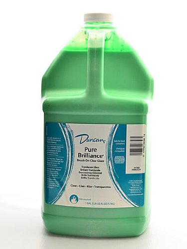 Duncan Pure Brilliance Clear Glaze brush-on glaze 1 gal. pour-spout bottle