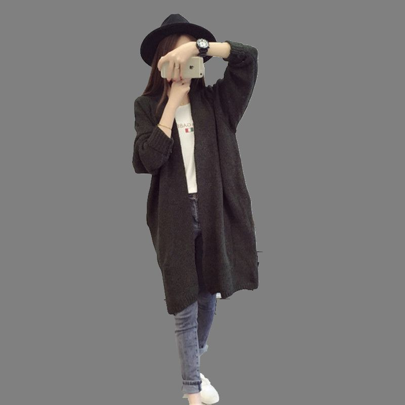Europe American 2016 Latest Autumn font b Winter b font Fashion Women knit Cardigan Coat Pure
