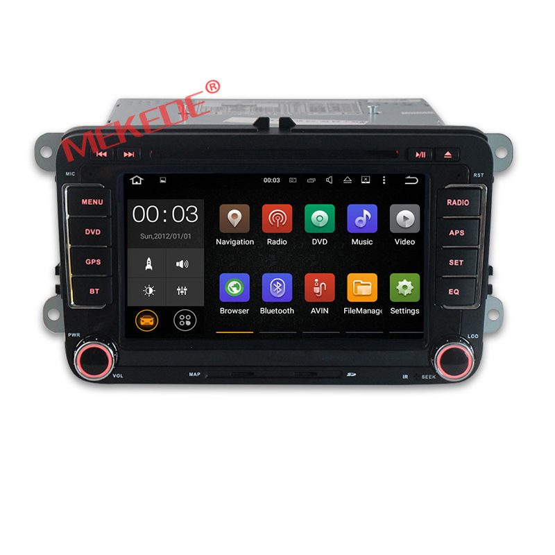 4G LTE Android7.1 Car radio stereo for 7 inch V W with 2GB RAM 16GB ROM car DVD player