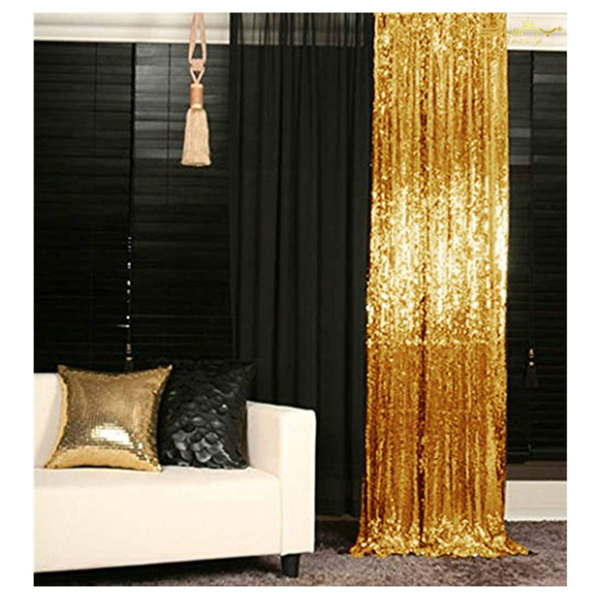 ShiDianYi Gold-SEQUIN BACKDROP-2FTx8FT Sequin Photo Backdrop,Photo Booth Background,Sequence Christmas Backdrop Curtain ON SALE