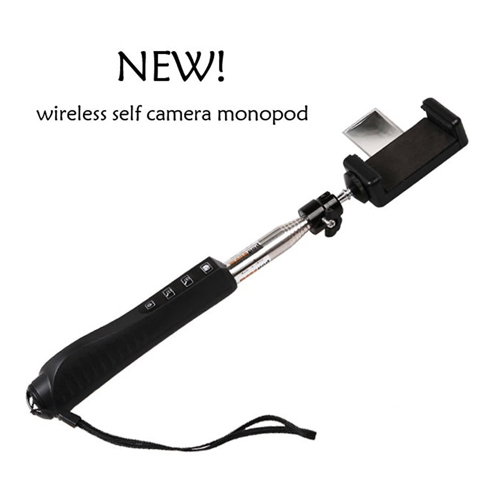 2015 New Generation Heavy Duty Universal Bluetooth Wireless Selfie Stick Bundle with Mini Monopod Kit with Remote Shutter Function Compatiable for iPhone 4/4s5/5s/5c/6/6Plus, Samsung, Blackberry, HTC, Sony, LG, Compatiable with iOS and Andriod by Innovative Gadget