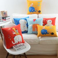 Decorative Throw Pillow Case Velour Velvet Animal elephant Print Sofa Cushion Cover Wholesale