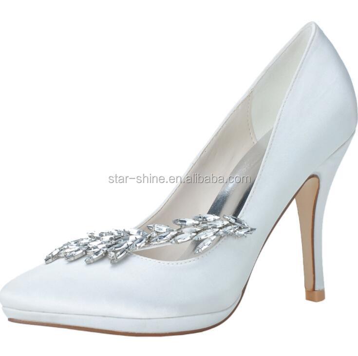 wedding heel Design mid sexy European style bridal stiletto diamond elegant shoes SW1434 vqR8dwR