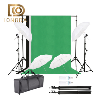 High quality suitable character photography softbox studio green screen lighting kit