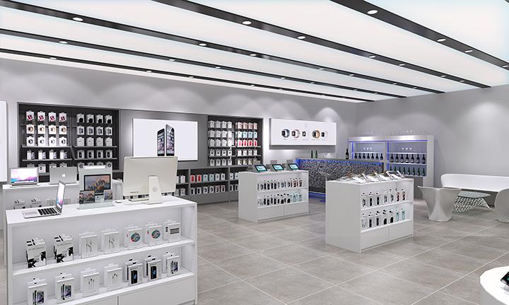 Customized Mobile Phone Retail Shop Decoration Electronic Shop Decor ...