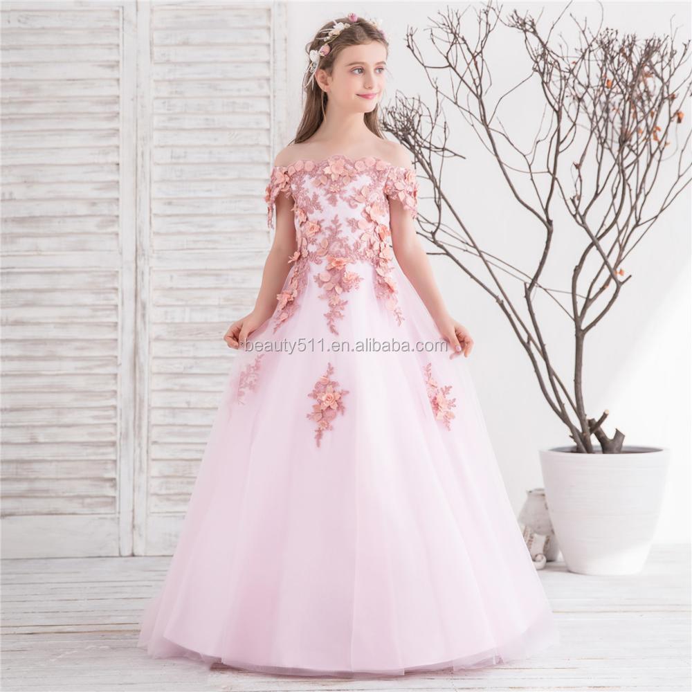 2018 New Design Fashion Angel Dresses Flower S Dress Party Kids F009