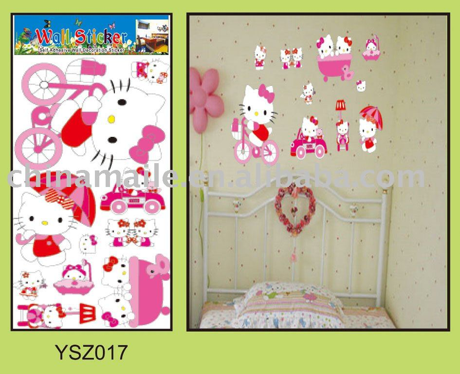 Hello Kitty Wall Stickers, Hello Kitty Wall Stickers Suppliers And  Manufacturers At Alibaba.com Part 33