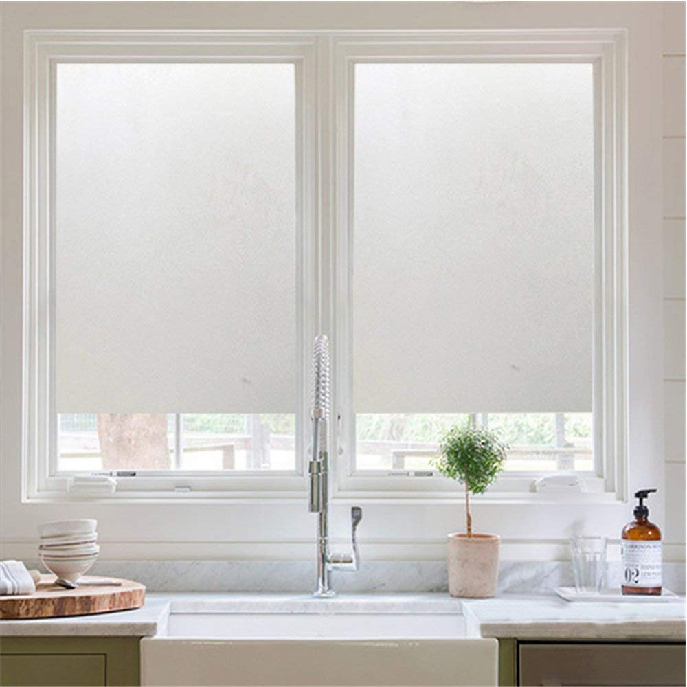 Privacy Window Film,YOAYO Frosted Static Cling Tint Window Film for Sun/UV Blocking,Heat Control,Non adhesive Decorative Window Film Insulation for Home Bathroom Office Meeting Room Glass Door Window