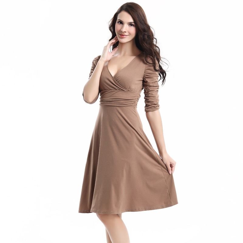 Plus Size Sexy Elegant Work Dress High Waist V Neck Slim Dresses For Women Bodycon Pencil Office Dress