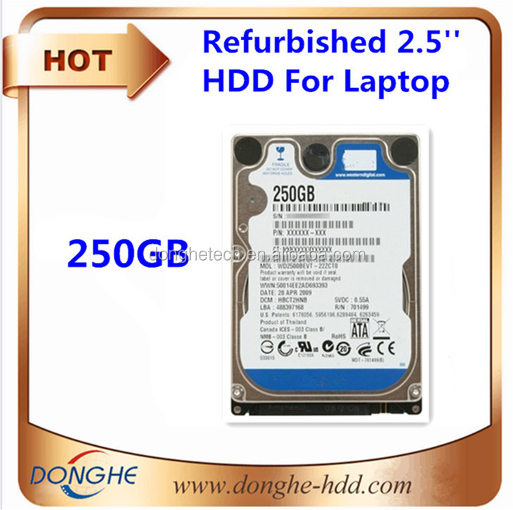 2.5-inch hard drives hdd scrap/ refurbished notebook hard disk 250gb with price wholesale stock in bulk