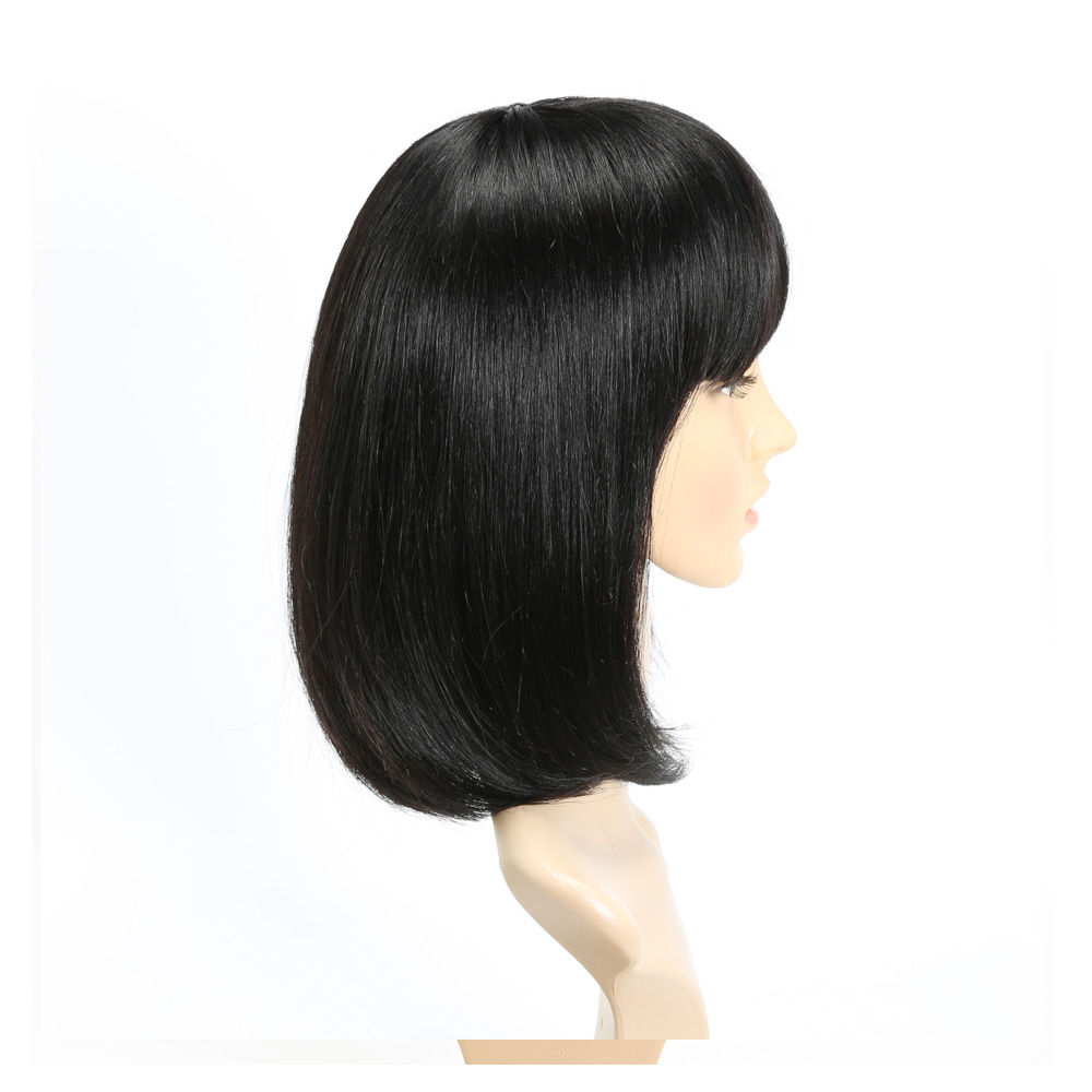 Hand made full lace human hair wig no shedding 100% indian woman straight bob human hair wig