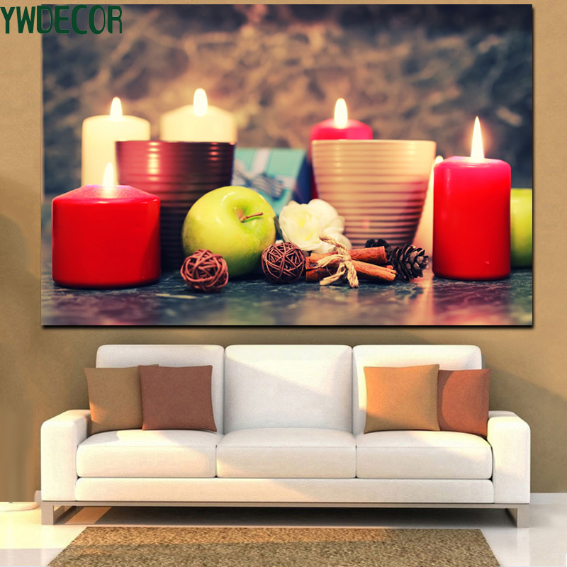 Colourful Picture Lighted On Canvas Painting LED Candle Photo Decoration LED Light Fabric Painting