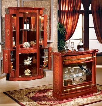 Antique Glass Bar Corner Display Cabinet 816-a#