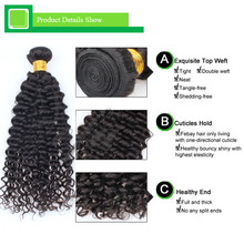 100% natural brazilian deep wave human hairstyles for black women