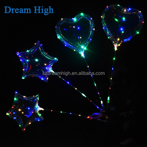 Christmas decoration Valentine's day led bobo balloon heart shaped bobo balloon