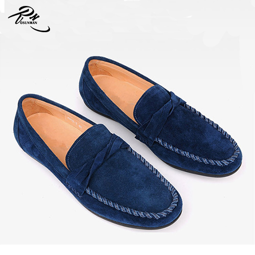 men casual styles moccasins driving loafer suede on slip Navy shoes new stripper qxRTn5