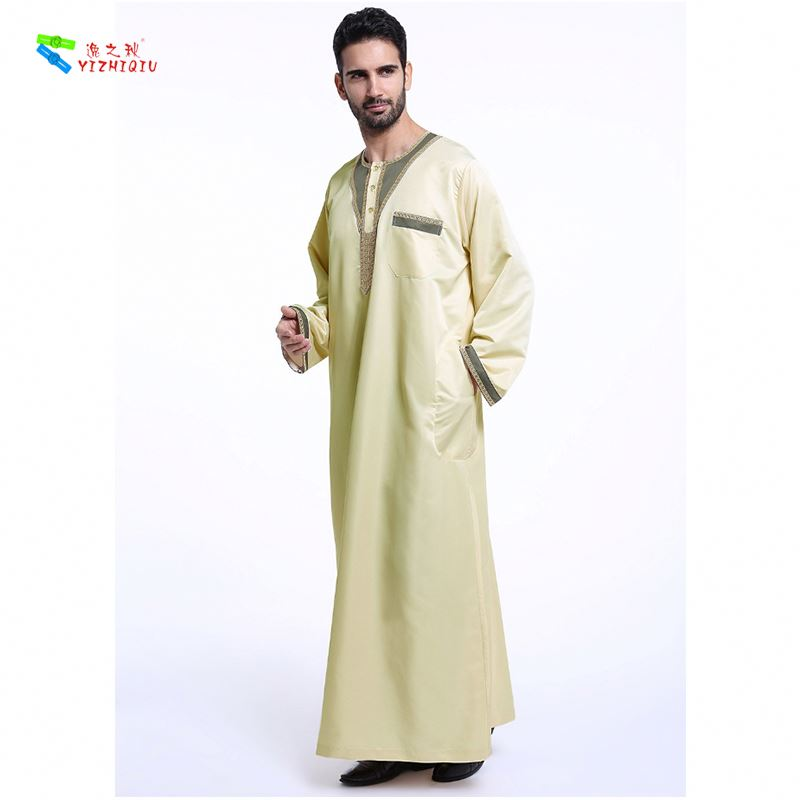 YIZHIQIU Arab Middle Eastern Costumes Robe Marriage  Muslim Men Clothing