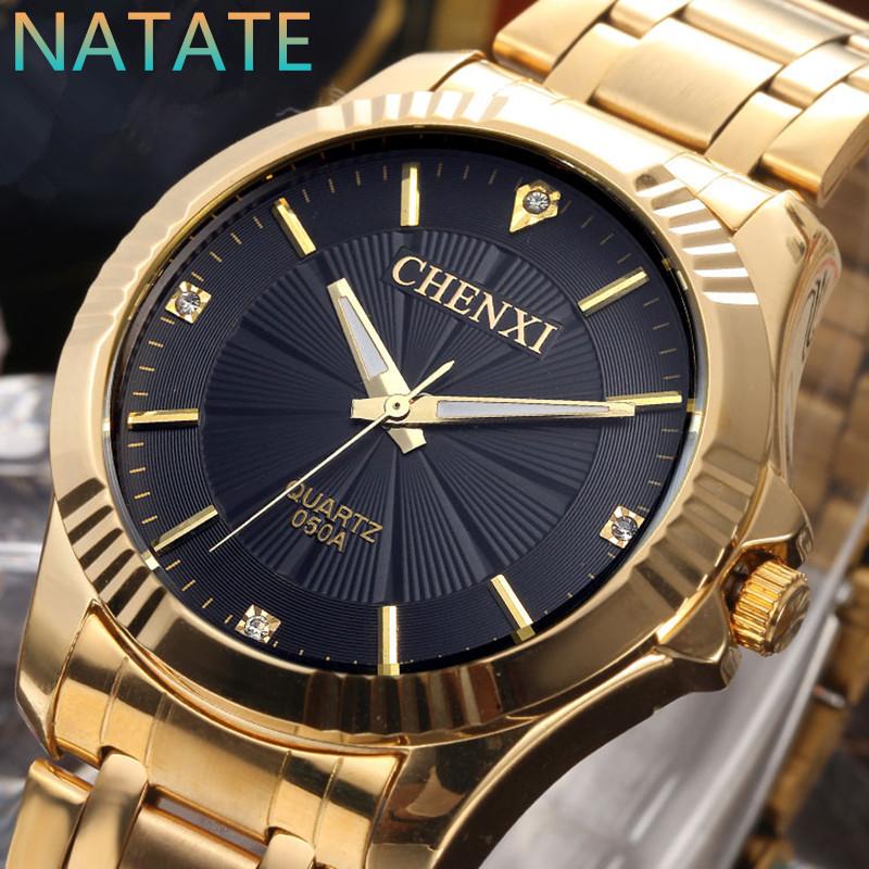 Natate CHENXI часы золотые мода мужчины часы полный золота нержавеющей стали кварцевые часы наручные часы оптовая продажа золотые часы мужчины 0940