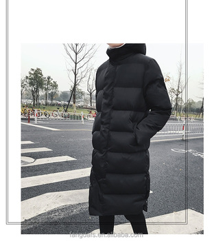 Hot sales fashion men's winter in the zipper padded clothes knee overcoat