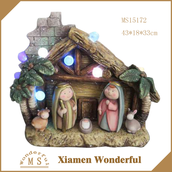 hot sale nativity/manger set cheap price with led light