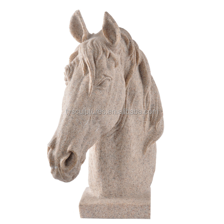 Best Selling Garden Decor Antique Stone Horse Head Sculpture