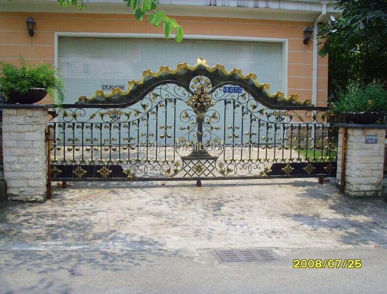 Galvanized Iron Metal Gates Iron Swing Main Gate Design