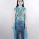Single Used Non Woven Disposable Surgical Gown Cloth Beauty Spa Studio Gown Blue Permanent Makeup Accessories Supplies