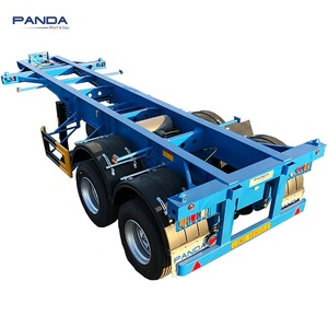 Pandamech 3axle 40ft skeletal semi trailer skeleton trailers chassis for trailer with spring suspension