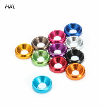 Gold M5//M6//M8 Countersunk Washers Anodised Aluminium