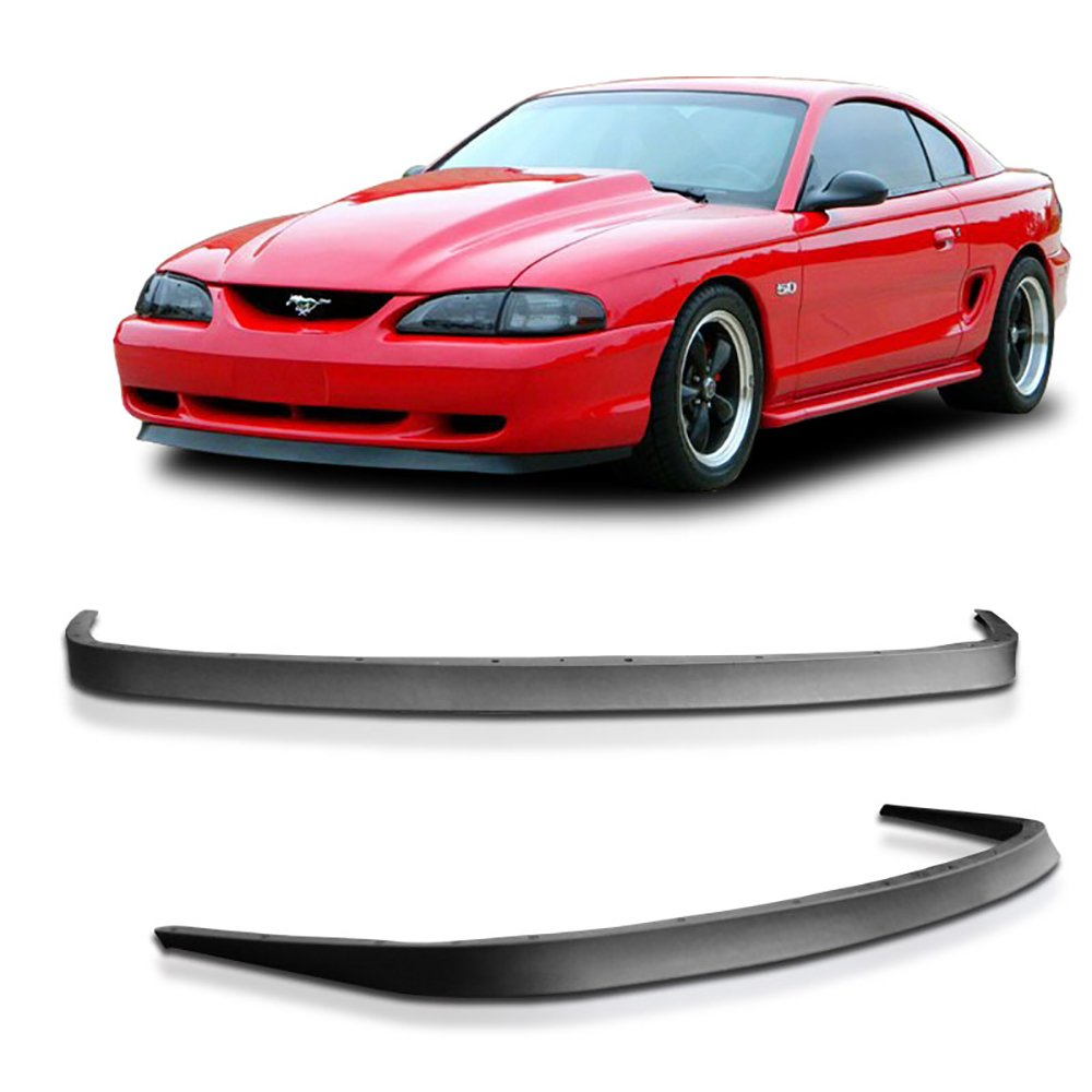 1994-1998 Ford Mustang GT V6 V8 USDM Mach 1 OE Style Front Bumper Lip - PU