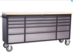 OEM Black stainless steel tool chest roller cabinet, black 72inch garage work bench