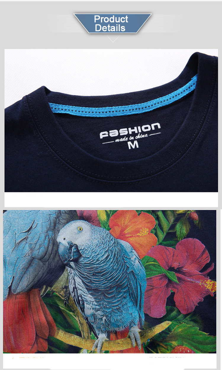 Mens Custom T Shirts Online 3d T Shirt Bird And Flower Printing