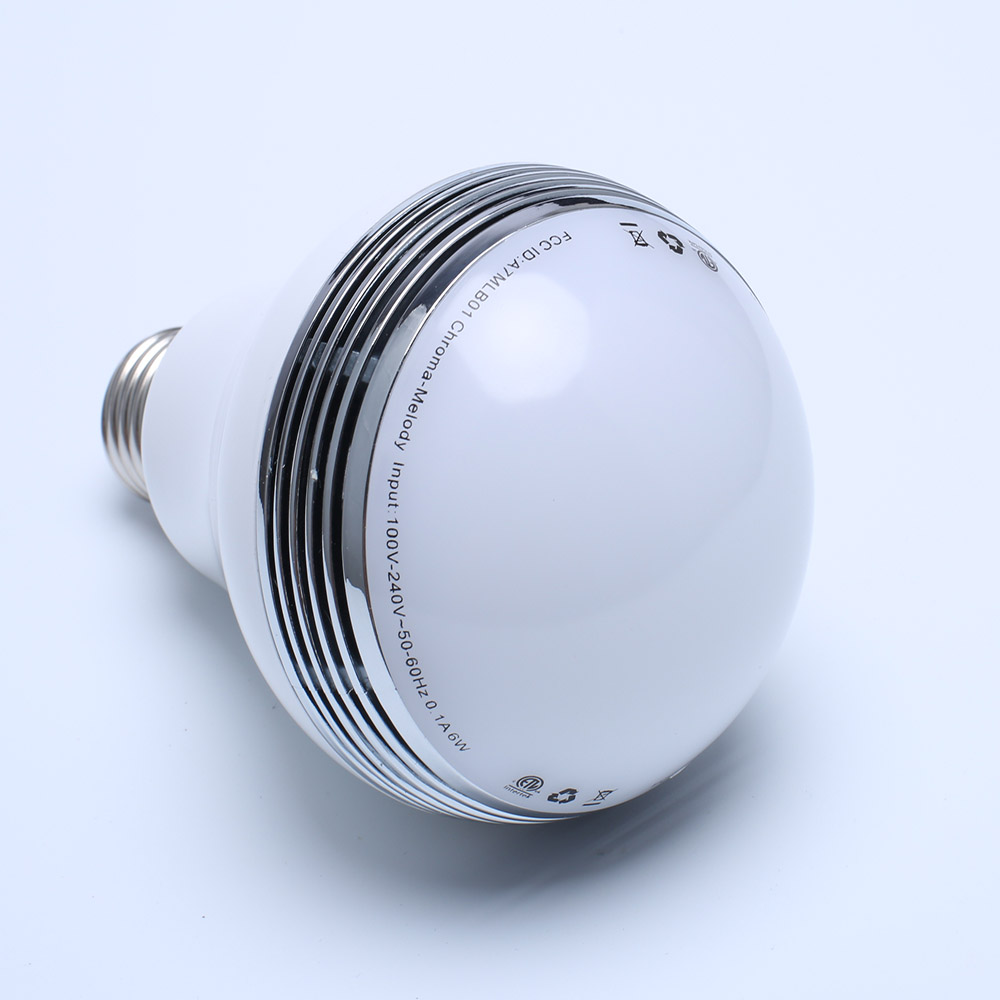 Color changing outdoor smart led music light bulb e27