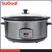 3.5L Ceramic inner pot slow cooker with preset timer temperature