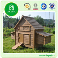 Large backyard timber mobile outdoor Wooden chicken house for sale