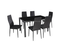 1+6 tempered glass dining room set