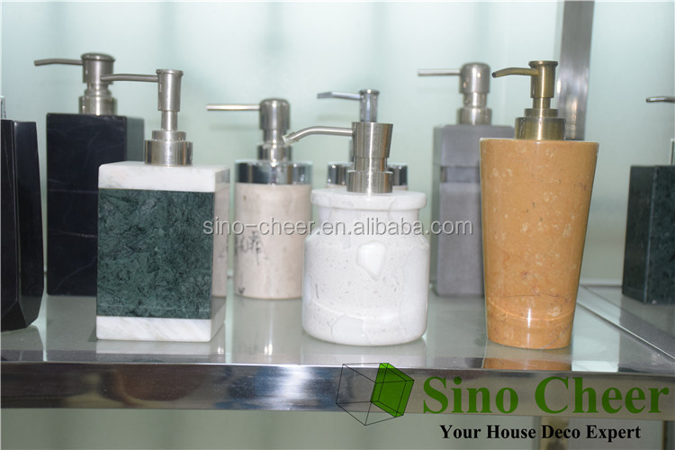 Wholesale light green natural stone pump bottle for lotion