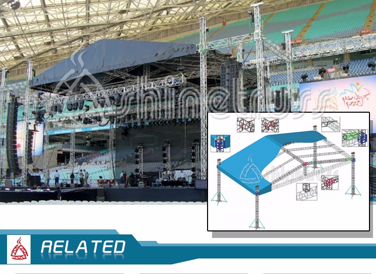 stage truss design quickly assemble customised spigot event outdoor stage truss