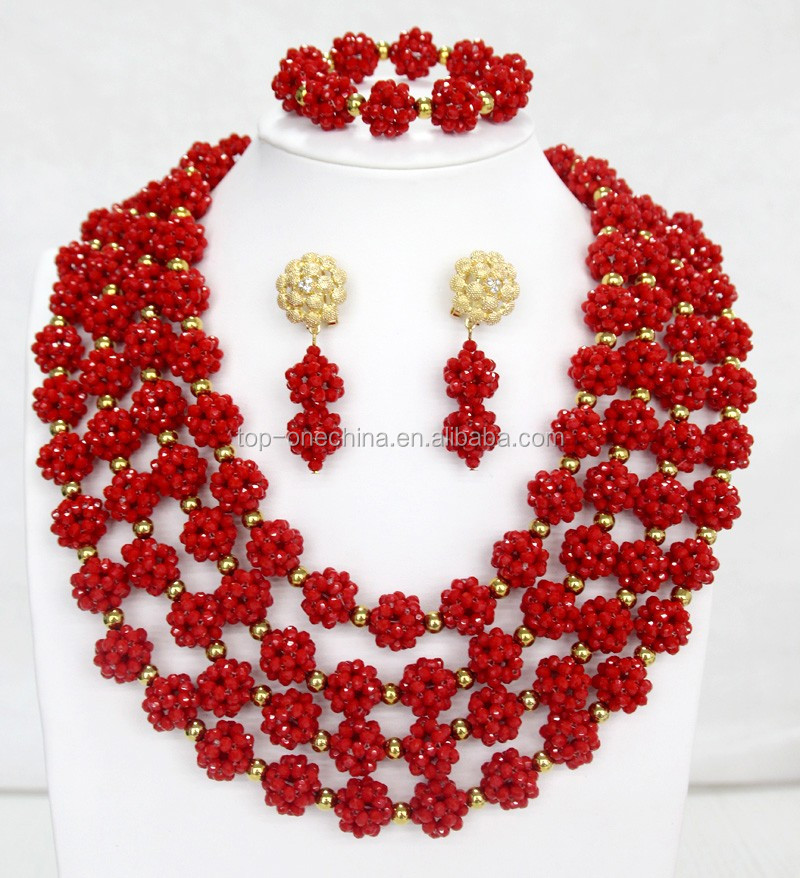 2017 Nigeria African Beads Jewelry Set Beads For Jewelry Making ...
