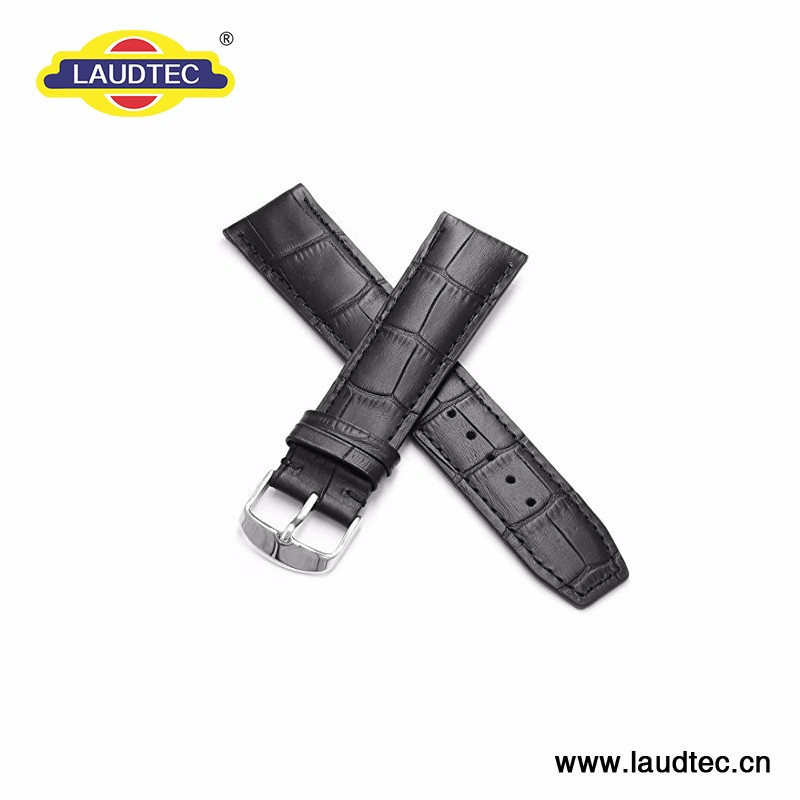 20mm Laudtec Top Genuine Grain Leather Watch Bands Smart Watches with Band Stainless Steel Buckle