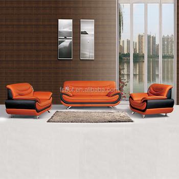 Modern Camel Leather Living Room Sofa Set Indian Furniture Pure