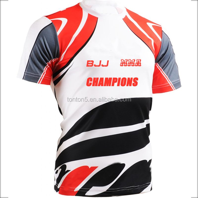 custom fitness Skin Short sleeve jiu jitsu rash guards