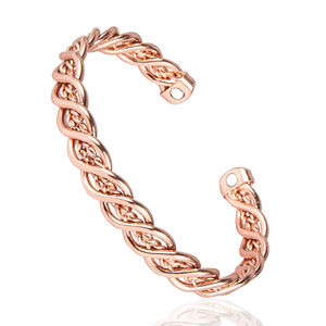 Wholesale ROSE Gold Health Magnet Energy Bio Magnetic Therapy Pure Copper Bangle Bracelet Jewelry