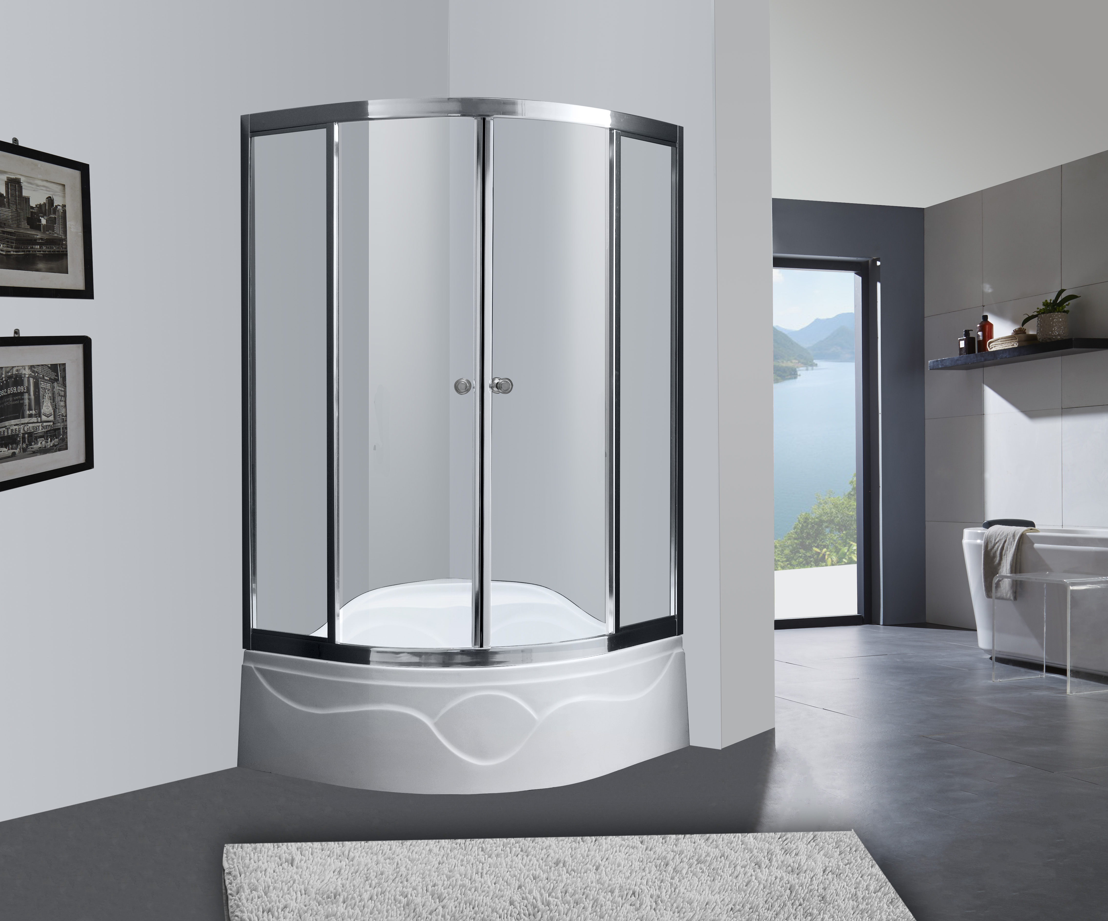 Mini Bathroom Shower Stall With Seat