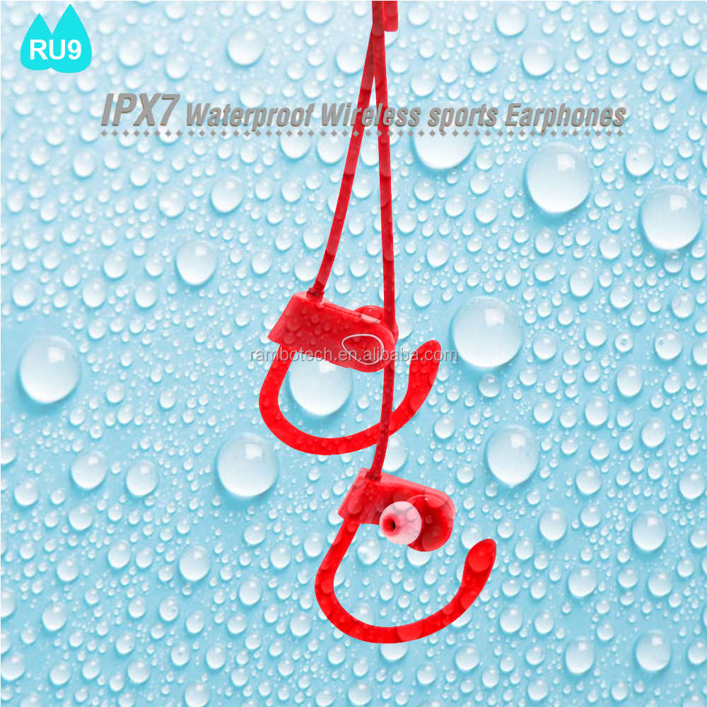 IPX7 Waterproof Stereo Earphone RU9 Stylish Model In the Market, Super Mini With Noise Cancellation.