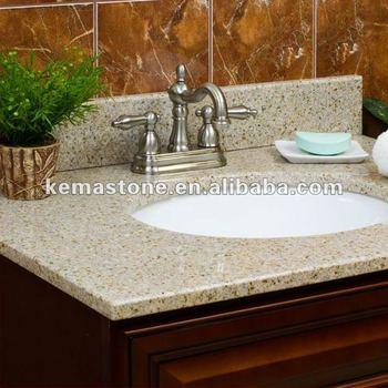 Prefab One Piece Bathroom Sink And Countertop