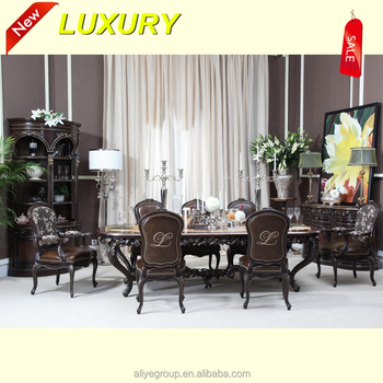 7359dfcbf8 AM3007-2- Classic Brown Extended Wooden Dining Table Set (MOQ=1 SET ...