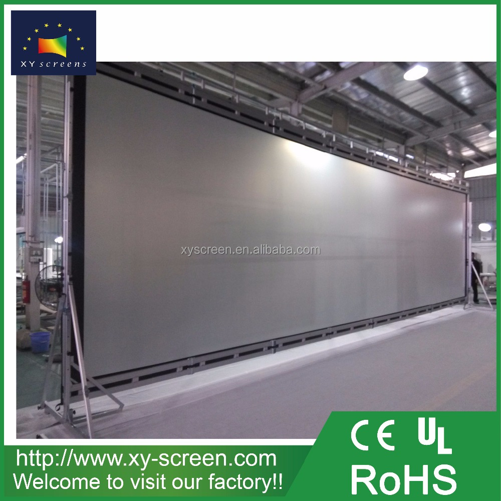 XYSCREEN 400 inch Double Side fabric for outdoor projection screen with double frame