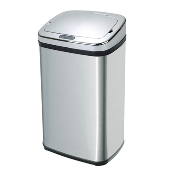 stainless steel garbage pails automatic dustbin