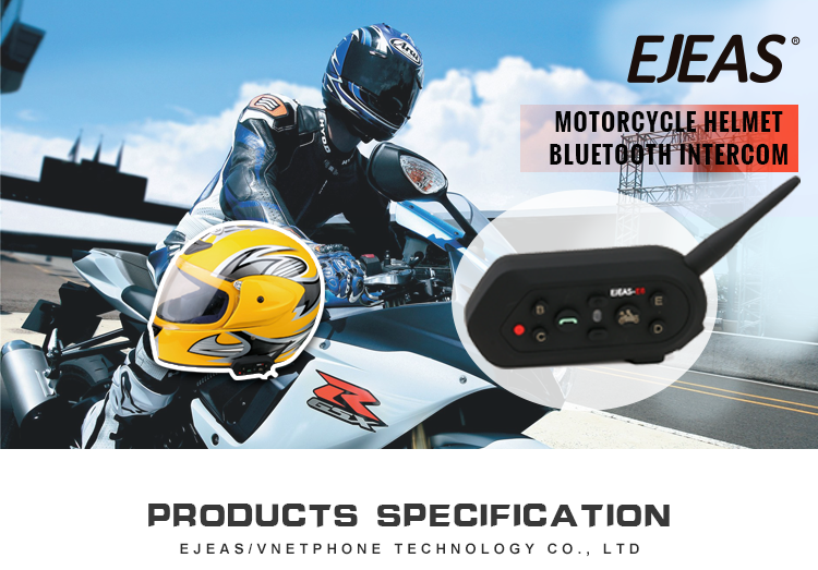 Full duplex motorcycle communication headset Waterproof intercom